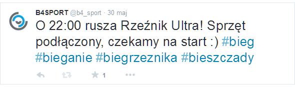 Bieg Rzeźnik Ultra Twitter