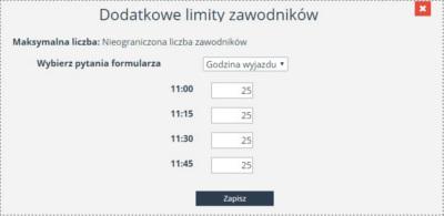 dodatkowe limity
